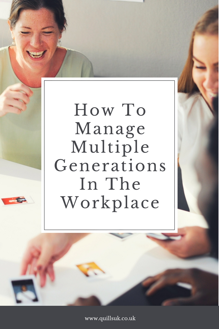 managing multiple generations in the workplace Effects multiple generations have in the workplace to their diversity and inclusion initiatives  generation x, hr and talent management professionals should allow for autonomous work, offer flexibility, and provide clear, measureable goals  managing the multigenerational workplace.