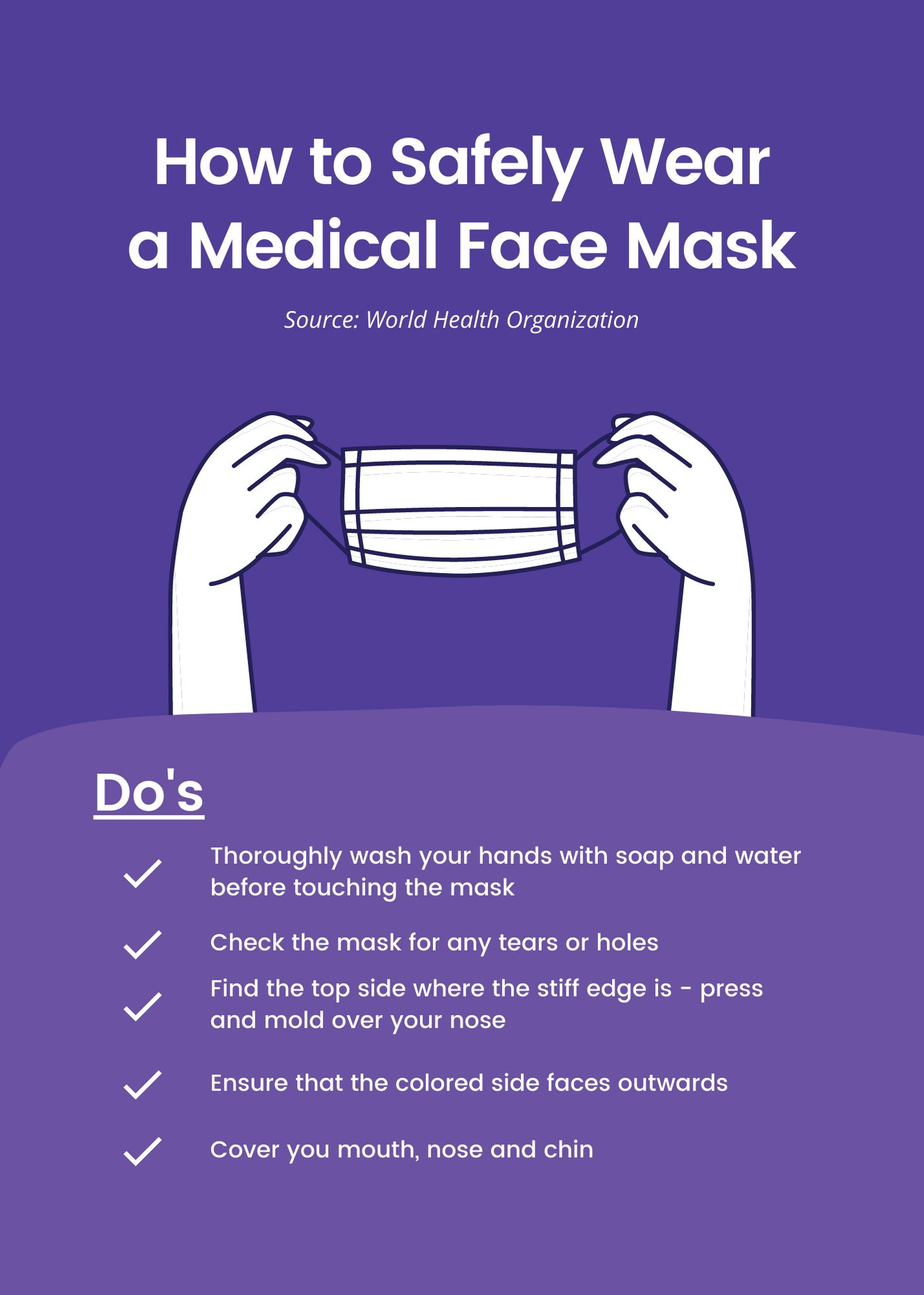 How to safely wear a mask infographic 1