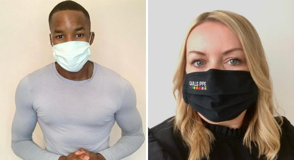 Face Masks & Face Covering with Quills UK